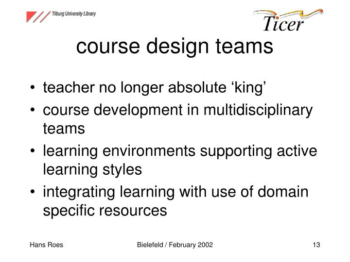 course design teams