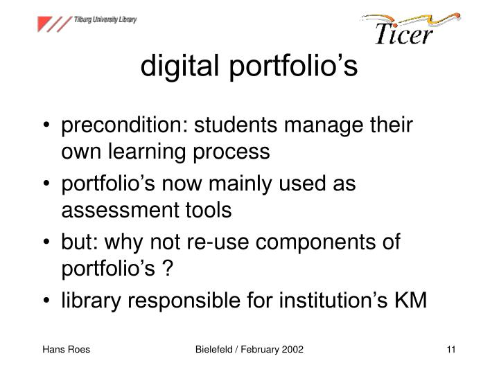 digital portfolio's