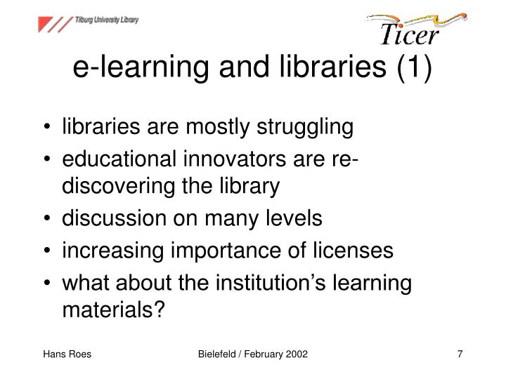 e-learning and libraries (1)