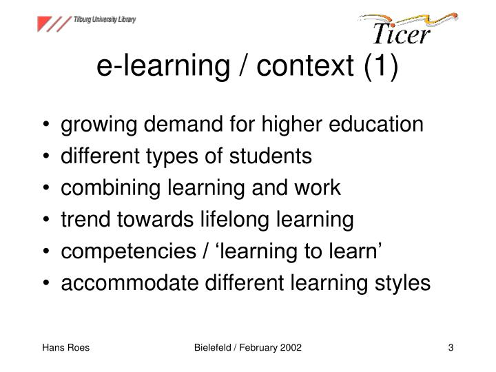 e-learning / context (1)