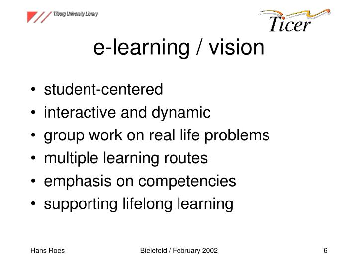 e-learning / vision