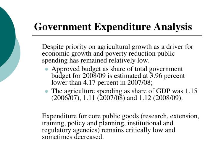 Government Expenditure Analysis