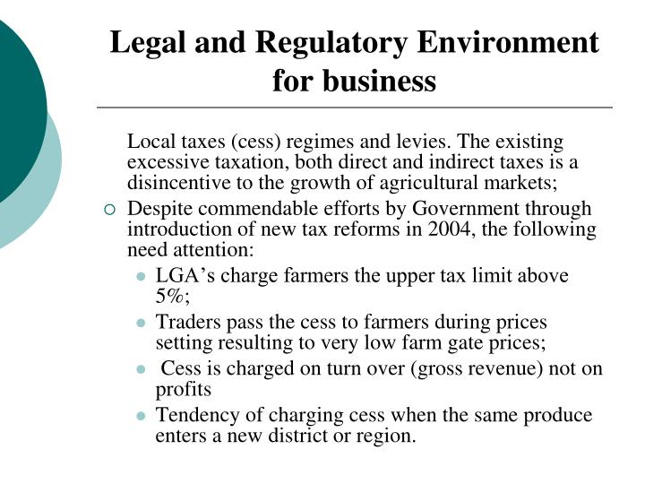 Legal and Regulatory Environment for business