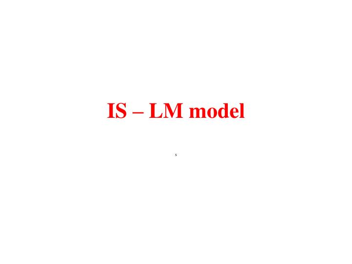 Is lm model