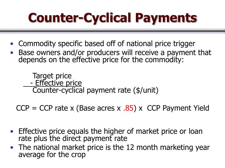 Counter-Cyclical Payments