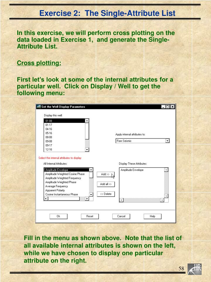 Exercise 2:  The Single-Attribute List
