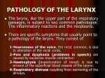 pathology of the larynx