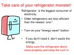 take care of your refrigerator monster