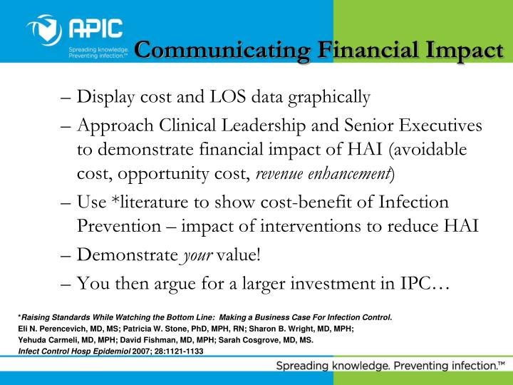 Communicating Financial Impact