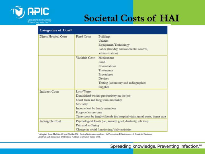 Societal Costs of HAI
