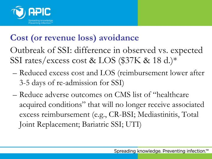 Cost (or revenue loss) avoidance