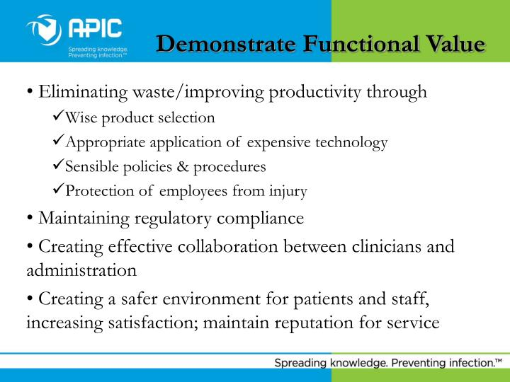 Demonstrate Functional Value