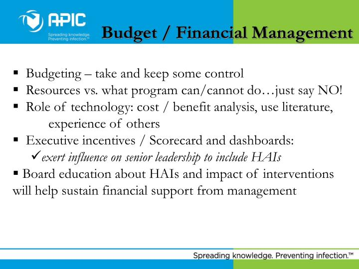 Budget / Financial Management