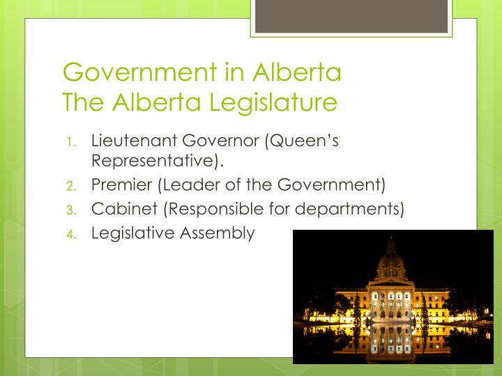 Government in Alberta