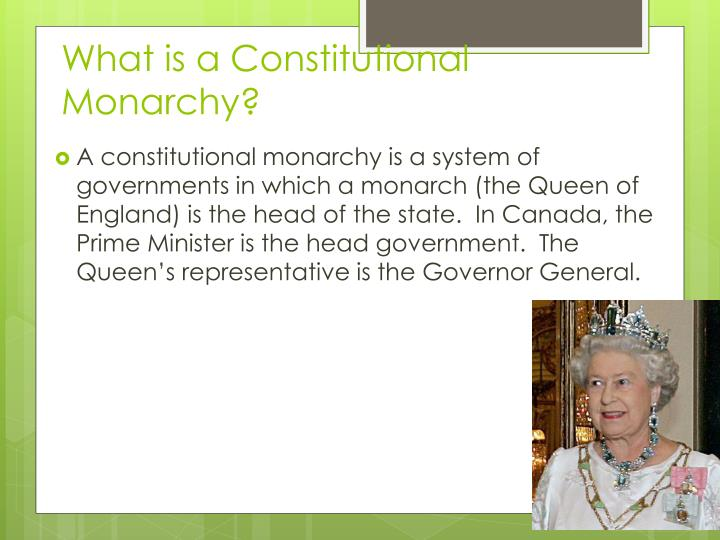 What is a Constitutional Monarchy?