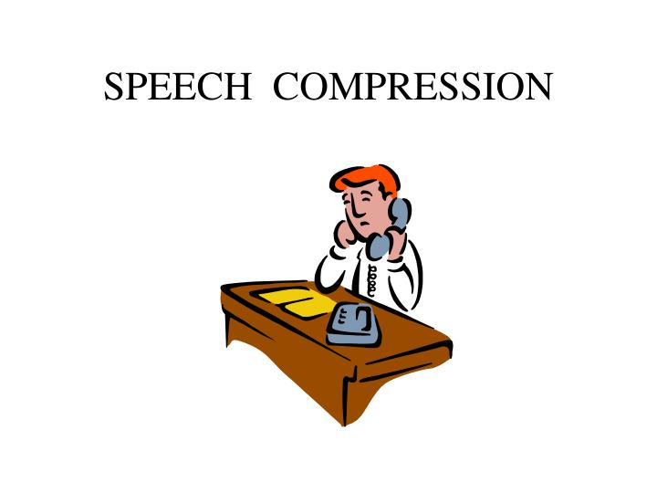 Speech compression