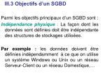 iii 3 objectifs d un sgbd