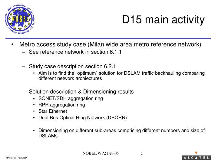 D15 main activity