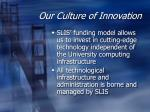 our culture of innovation