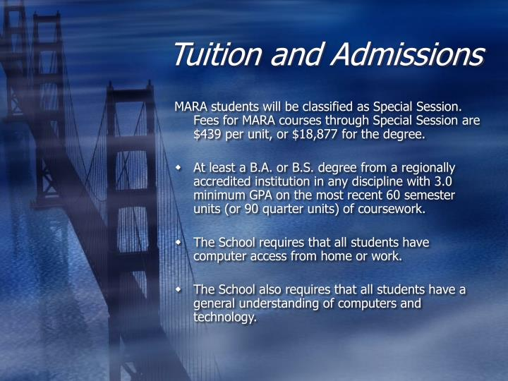 Tuition and Admissions
