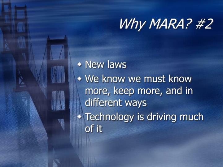 Why MARA? #2