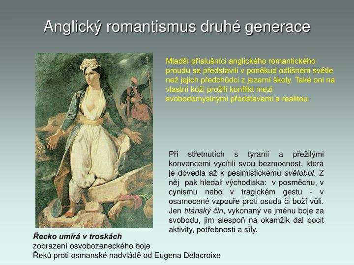 Anglick romantismus druh generace