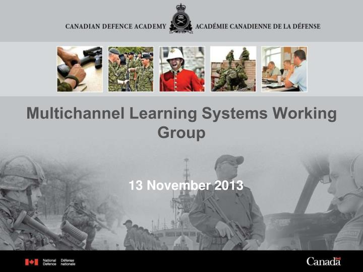 Multichannel learning systems working group