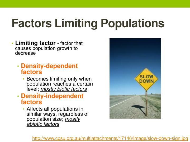 Factors Limiting Populations