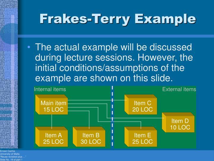 Frakes-Terry Example