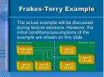 frakes terry example