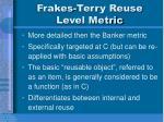 frakes terry reuse level metric