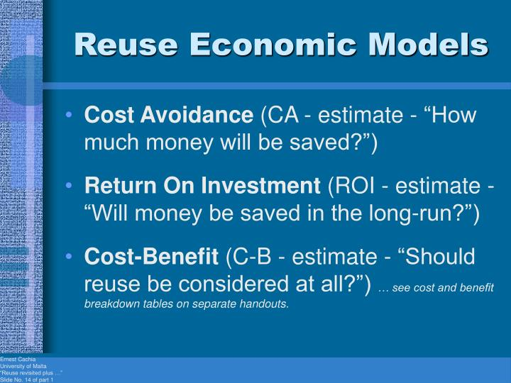 Reuse Economic Models