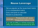 reuse leverage