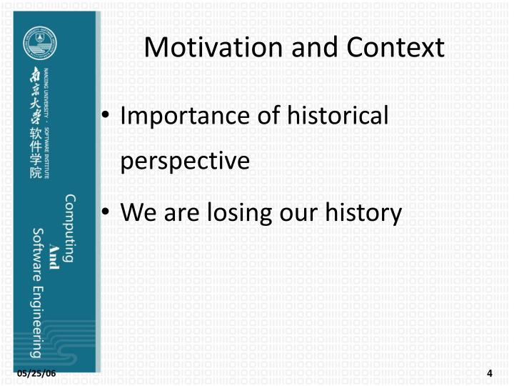Motivation and Context
