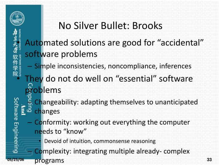 No Silver Bullet: Brooks