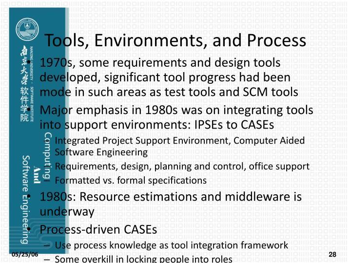Tools, Environments, and Process