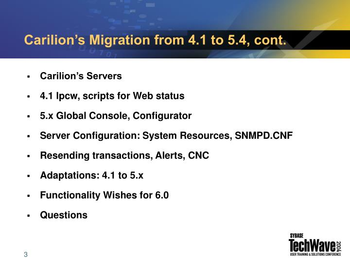 Carilion s migration from 4 1 to 5 4 cont