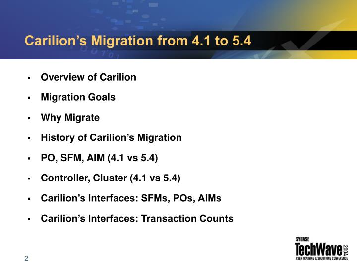 Carilion's Migration from 4.1 to 5.4