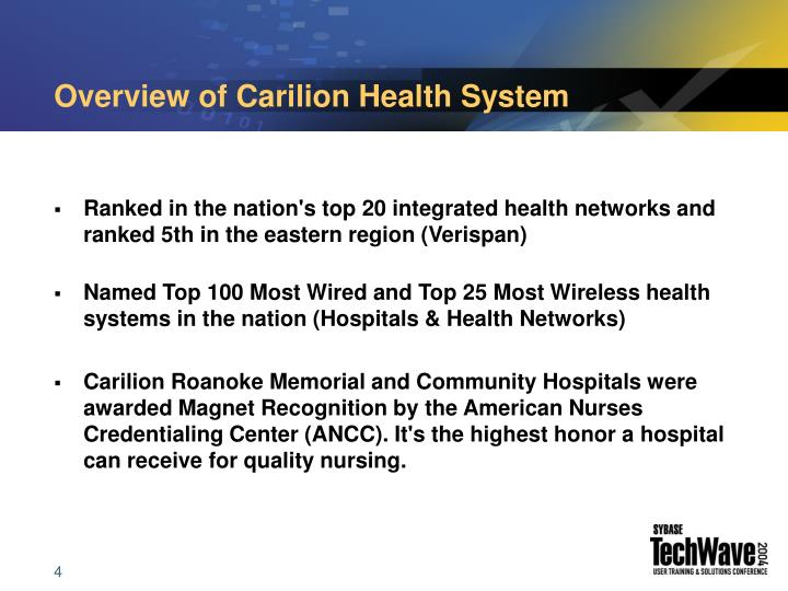 Overview of Carilion Health System