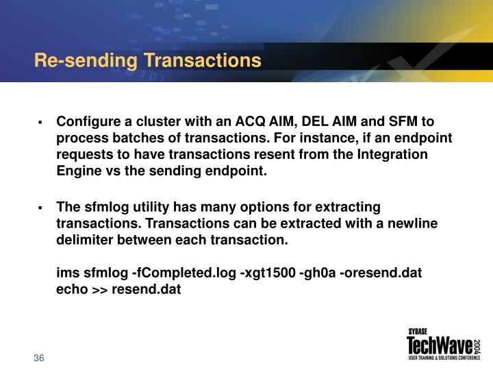 Re-sending Transactions