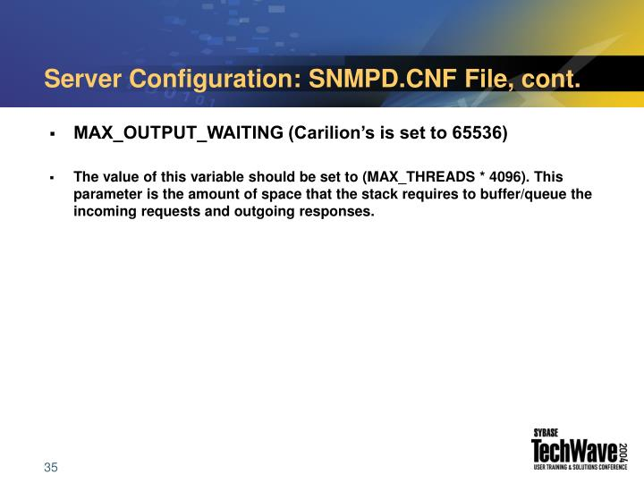 Server Configuration: SNMPD.CNF File, cont.
