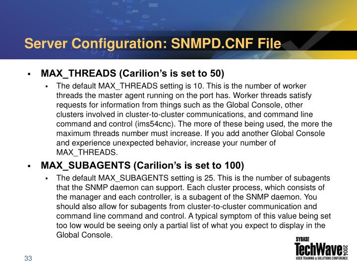 Server Configuration: SNMPD.CNF File