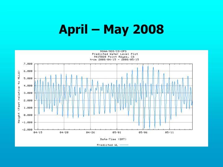 April – May 2008