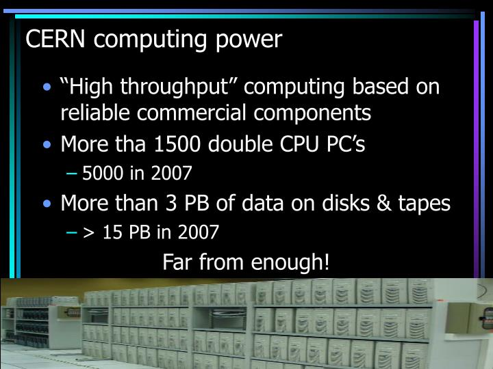 CERN computing power