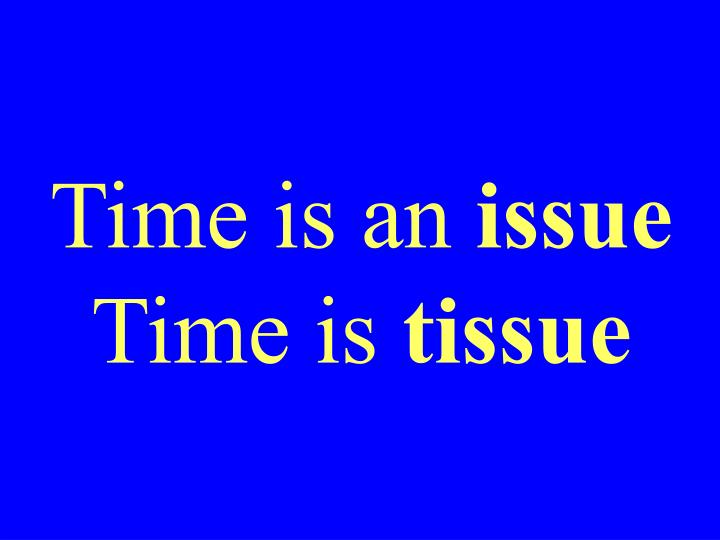 Time is an