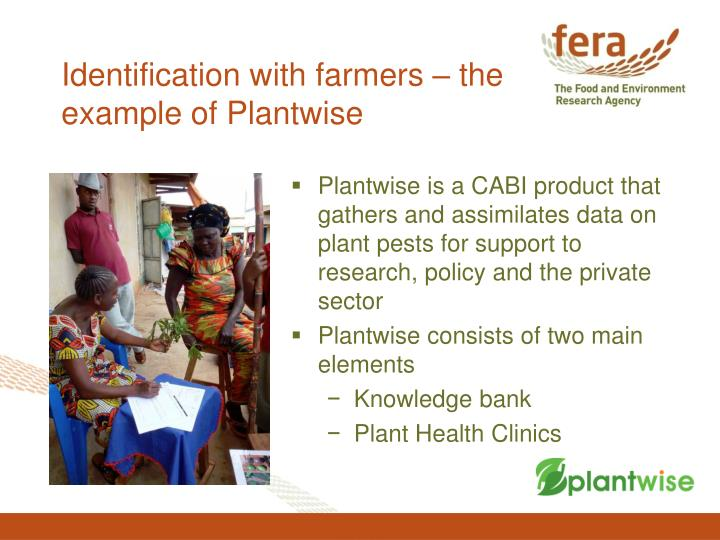 Identification with farmers – the example of Plantwise