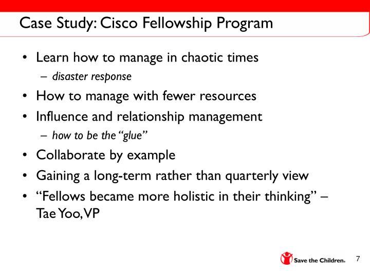 Case Study: Cisco Fellowship Program
