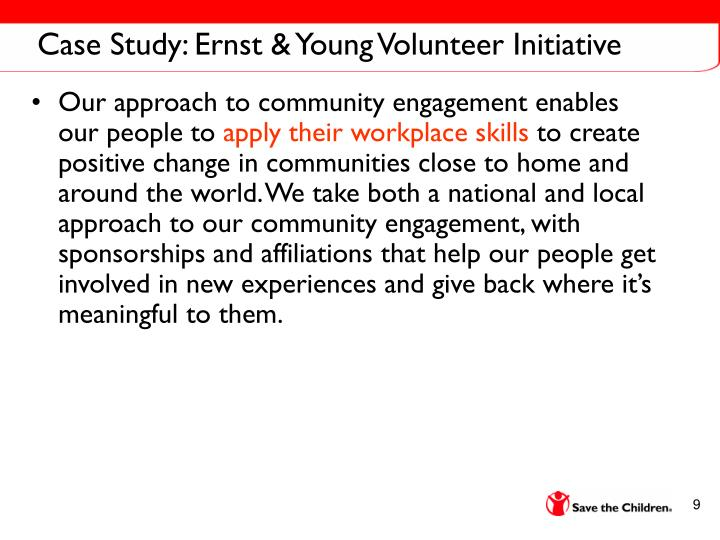 Case Study: Ernst & Young Volunteer Initiative