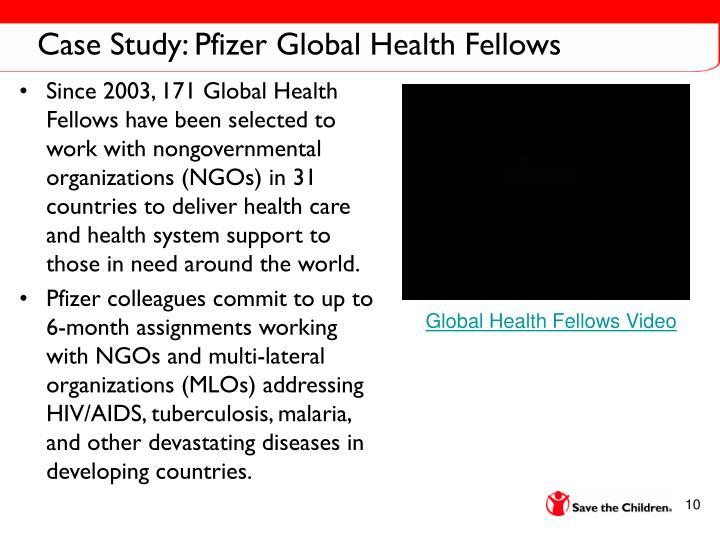 Case Study: Pfizer Global Health Fellows