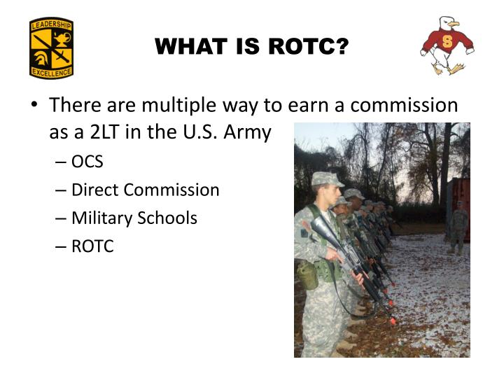 what is rotc in college A reserve office training corps (rotc) is a college program that exists in many countries its purpose is to train students to become officers in the.